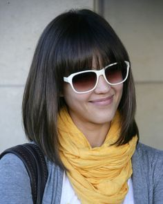 Long Bobs on We Love Jessica Alba S New Long Bob With Fringe Even Though She Has