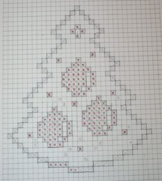 Christmas tree with bell - Salvabrani Victorian Christmas Ornaments, Crochet Christmas Decorations, Christmas Tree, Hand Embroidery Stitches, Cross Stitch Embroidery, Doily Patterns, Crochet Patterns, Cross Stitch Designs, Cross Stitch Patterns