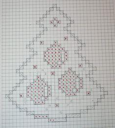 Christmas tree with bell - Salvabrani Victorian Christmas Ornaments, Crochet Christmas Decorations, Christmas Cross, Christmas Tree, Doily Patterns, Crochet Patterns, Cross Stitch Designs, Cross Stitch Patterns, Crochet Winter