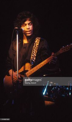 American singer, songwriter, musician and actor Prince performing at the Bottom Line on February 15, 1980 in New York City.