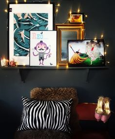Faffing Fridays.  Dark Interiors. Ketchup on Everything. Eclectic. Artwork. Layered Artwork