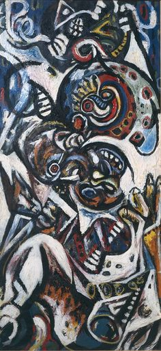 Jackson Pollock ~ Birth, c.1941 (oil on canvas)