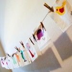 adorable stenciled quilt squares