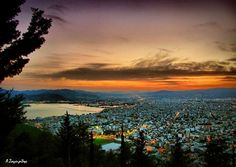 Volos, Greece, where Jimmy the Greek was born :) and when I start to get excited to be an hour from the village. Ahhhh
