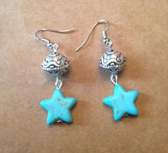 Turquoise Star Earrings by TripIntoLight on Etsy