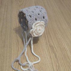 Vintage look crochet bonnet