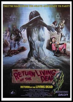 The Return Of The Living Dead Movie Poster 11 X 17 Clu Gulager, D, Usa,