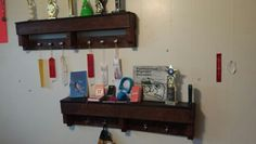 Pallet Shelves boys room or entry way