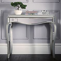 Reflections Mirrored Console Table #kaleidoscope #home