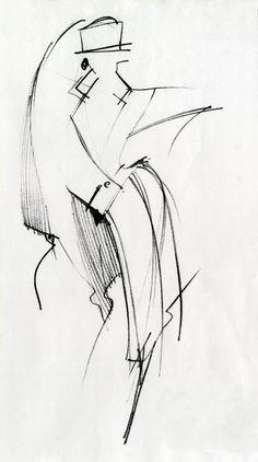Fondazione Gianfranco Ferré / Collections / Woman / Prêt-à-Porter / 1983 / Fall / Winter Illustration Mode, Fashion Illustration Sketches, Fashion Sketches, Drawing Sketches, Illustrations, Fashion Design Portfolio, Fashion Design Drawings, Fashion Graphic, Fashion Art
