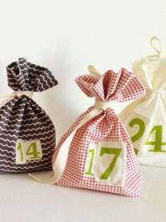 Scandi Bags Advent Calendar Scandinavian by GoodWishesQuilts