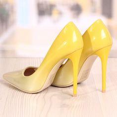 Poze Pantofi Stiletto Revlon Yellow Cod: 724