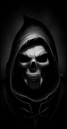 Ideas Wallpaper Dark Skull Grim Reaper For 2019 Animal Skull Tattoos, Small Skull Tattoo, Evil Skull Tattoo, Skull Tattoo Flowers, Dark Art Tattoo, Skeleton Tattoos, Skeleton Art, Skull Tattoo Design, Dragon Skeleton