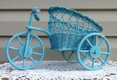 Wicker Tricycle Flower Cart w/Mason Jar / by ReFeatherYourNest