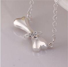 Silver Dog Bone Necklace – Hello Moa
