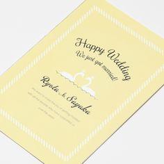 結婚式 招待状 Swans イエロー|LOUNGE WEDDINGの結婚式 招待状
