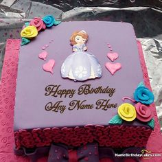 Images Of Cake With Name Zainab : Write name on Best Flowers Birthday Cake For Wife - Happy ...