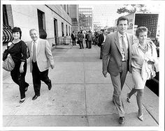 Joseph Testa October 22nd 1985 outside United States District Court at Pearl street. Foley Square in the background.