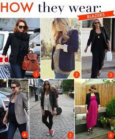 Maternity style: How they wear blazers.