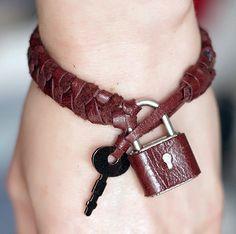 Braided Padlock Bracelet