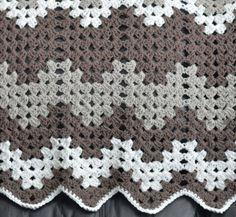 Monochromatic Crochet Baby Blanket | AllFreeCrochetAfghanPatterns.com
