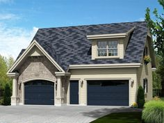 Carriage House Plan, 072G-0027  ~ Great pin! For Oahu architectural design visit http://ownerbuiltdesign.com