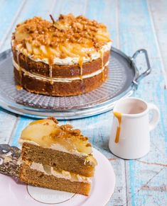 More celebratory cakes! A belated birthday cake. I was offered the challenge of making a cake that involved pear and salted caramel and I can rarely say no to a challenge. My friend is not a fan of sp