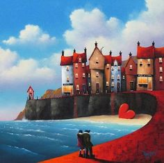 A Northern Romance by David Renshaw (A Northern Romance Series by David Renshaw on CrispMe) Art Fantaisiste, English Artists, Love Illustration, Naive Art, Illustrations And Posters, Whimsical Art, Art Pages, Beautiful Artwork, Home Art