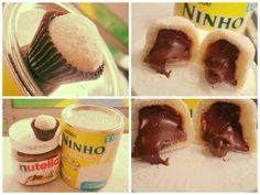 Veja a Deliciosa Receita de Receita de brigadeiro de Leite Ninho recheado de Nutella. É uma Delícia! Confira!