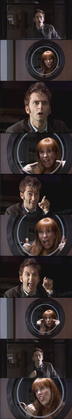 Tenth Doctor and Donna [One of my favorite scenes of the whole series.]