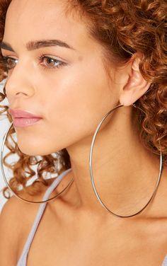 Mina Silver Hoop Earrings-N/A thumbnail 2