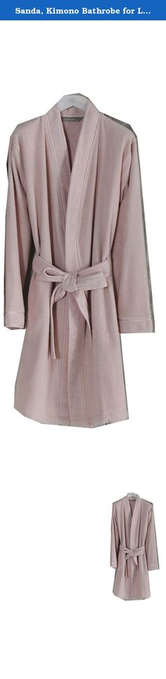 """Sanda, Kimono Bathrobe for Ladies, % 100 Turkish cotton (S-M, Powder). Elegant and attractive, special design bathrobe for women. S-M Size: 38"""" lenght, 6"""" shoulder, 21"""" chest; M-L Size: 40"""" lenght, 6"""" shoulder, 22"""" chest... Bathrobe is made of % 100 Turkish cotton, very soft, absorbent, durable. You can use at home, spa, pool, sauna, beach...etc. The bathrobe is also suitable as a gift for all types of special days like birthdays, wedding gift,.. or just give it to your loved ones for no..."""