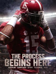 Alabama Crimson Tide - The Process Begins Here! #Alabama #RollTide #BuiltByBama…