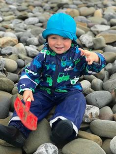 The beach is fun whatever the weather. There's no such thing as bad weather, only inappropriate clothing. Outdoor Play, Weather, Beach, Happy, Clothing, Style, Fashion, Diapers, Outfits