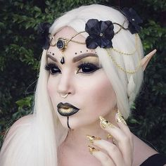 "Just Some Things I Like — Freckles on Instagram: ""Gold and black elven crown..."