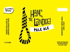 Hang the Landlord - beer label