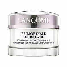 Lancome Fragrances Primordiale Skin Recharge Moist. SPF 15, 1.7-Ounce by Lancome. Save 11 Off!. $79.88. LANCOME PRIMORDIALE SKIN RECHARGE Visible Smoothing Renewing Moisturizer SPF 15 1st Signs of Ageing.   ALL SKIN TYPES. In creating PRIMORDIALE SKIN RECHARGE day cream, Lancme Laboratories have the raised the level in the fight against premature skin ageing. The smooth and silky texture of PRIMORDIALE SKIN RECHARGE day cream is enriched with Biotine, a powerful and energetic ...