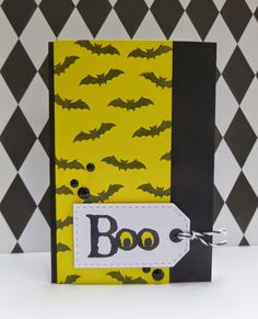 Love this CAS and batty BOO tag design!!  By Funky Fossil Designs