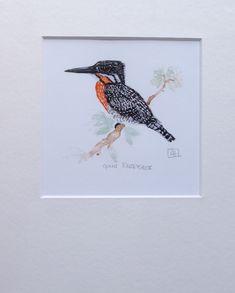 Giant Kingfisher A5 giclée print www.louisehennigs.co.za