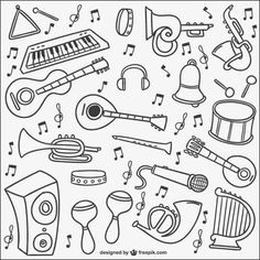 32 Sets of Free Vector Music Clip Art Graphics