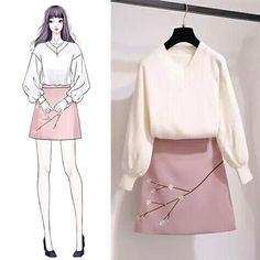 Here's Fashionable korean fashion trends Korean Fashion Trends, Korea Fashion, Asian Fashion, Look Fashion, Girl Fashion, Womens Fashion, Fashion Ideas, Korean Outfits, Mode Outfits