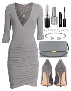 """Untitled #4146"" by natalyasidunova ❤ liked on Polyvore featuring James Perse, Bling Jewelry, Gianvito Rossi, STELLA McCARTNEY, New Look, MAC Cosmetics and Bobbi Brown Cosmetics"