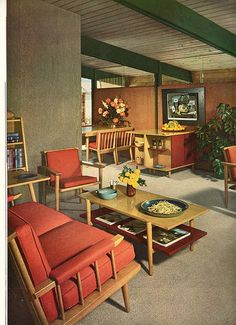 Untitled | Flickr - Photo Sharing! - whole lotta light colored wood on this mid century design...
