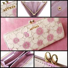 【aether_jiyugaoka】さんのInstagramをピンしています。 《新商品のご紹介です✨ ・ 愛らしい桜の花びらを閉じ込めたお財布にがま口タイプが仲間入りです。 ・ 甘い花の香が風に乗って漂ってくる様ですね。 ・ 日本の女性にぴったりとはまるがま口は開閉もしやすく、パチンと閉まる音も魅力的な一品です。 ・ 店舗情報アカウント→@aether_jiyugaoka 公式アカウント→@aether.tokyo #ピンク #桜 #さくら #サクラ #花びら #花 #花束 #花柄 #がま口 #財布 #長財布 #レザー #チャーム #自由が丘 #エーテル #東京 #新作 #新商品 #flower #leather #wallet #Tokyo #pink #cherryblossom #petal #charm #aether #jiyugaoka》