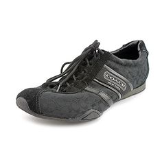 Coach Womens Signature Remonna Black Sneaker Track Tennis Shoe -            Product Description    Coach Womens Signature Remonna Black Sneaker Track Tennis Shoe                                 Signature jacquard fabric upper Lace-up vamp with suede trim Webbing stripe down sides with patent leather trim Coach logo on outside of shoe, tongue &... - http://shoes.goshopinterest.com/womens/fashion-sneakers/coach-womens-signature-remonna-black-sneaker-track-tennis-shoe/
