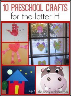letter H crafts for preschool 590x791 Letter H Crafts