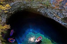 Λιμνοσπήλαιο Μελισσάνης Κεφαλονια..! Limnospilaio (Manger Lake) in Melissani, Kefalonia