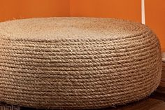 Tire ottoman...40 Things You Never Knew You Could Do With Rope via Brit + Co.
