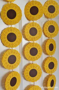 Sunflower Banner DIY for Frozen Summer Birthday Party