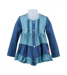 LOVE the pin tucks on the bodice ... with the ruffles and snap front ... CUTE!
